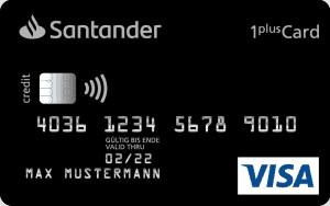 Santander 1plus Visa Card Kreditkarte für Reisen